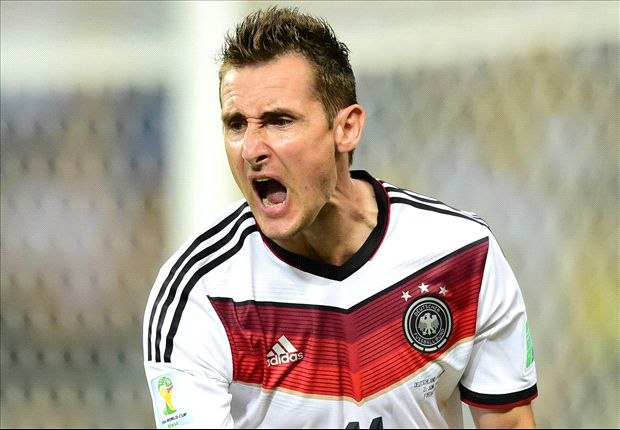 Classic Klose equals Ronaldo's record when Germany needed him most