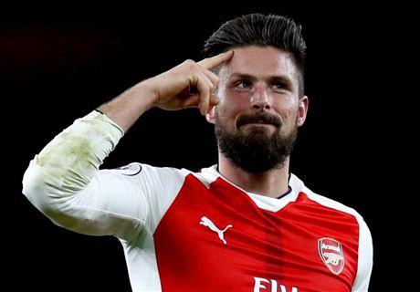 TEAM NEWS: Giroud starts for Arsenal