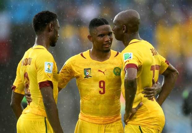 Eto'o in actie voor Kameroen