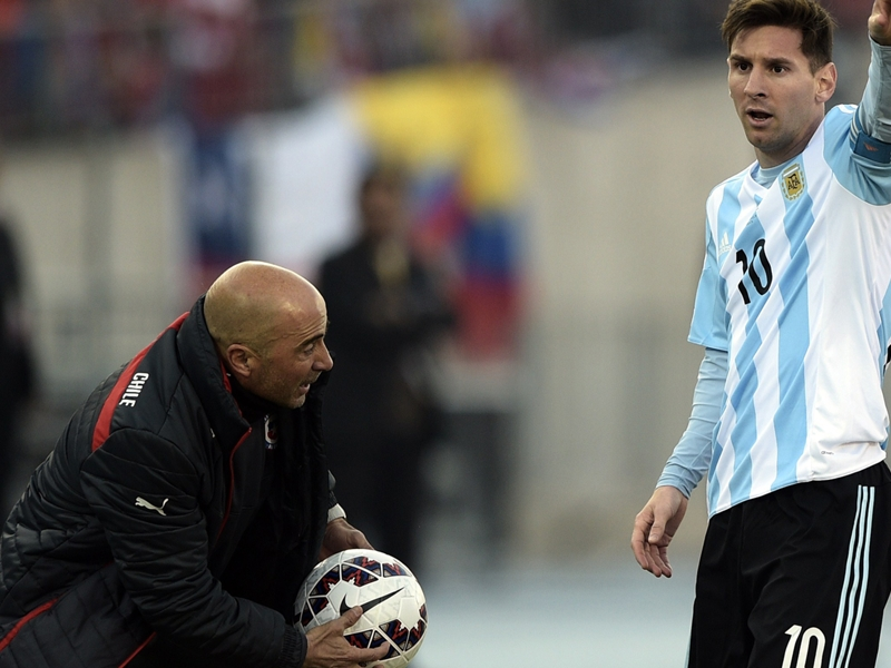 How will Argentina line up in Jorge Sampaoli's first match vs Brazil?