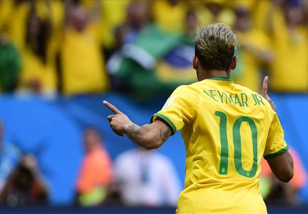 Neymar, con cuatro goles en tres partidos, es una de las figuras del Mundial