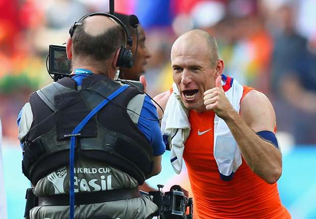 Robben: Netherlands just three wins from the World Cup final