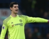 Thibaut Courtois playing for Chelsea against Stoke