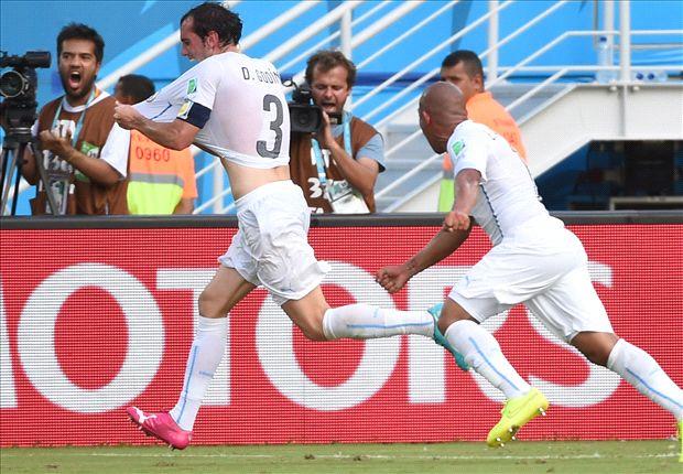 Italia 0-1 Uruguay: Diego Godín vuela para clasificar a los charrúas