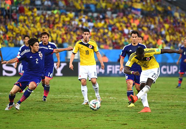 Japan 1-4 Colombia: Jackson Martinez double sends Zaccheroni's side home