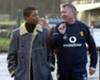 Patrice Evra and Sir Alex Ferguson