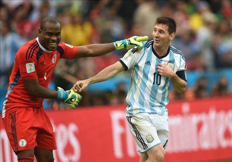 Enyeama y los tiros libres de Messi