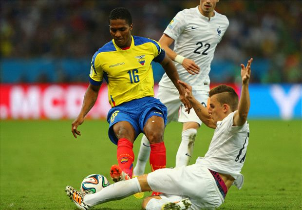 Ecuador 0-0 France: Valencia sees red as South Americans crash out of World Cup