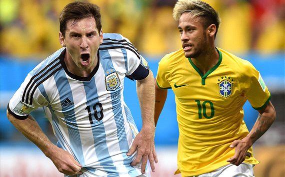 Lionel Messi Neymar 2014 World Cup Golden Boot