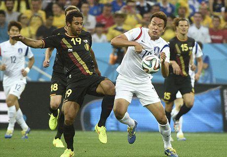 Las estadísticas de Corea 0-1 Bélgica