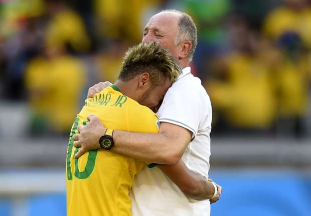 Scolari: Neymar couldn't feel his legs after injury