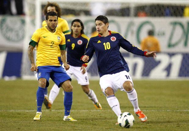 La última vez que se enfrentaron Brasil y Colombia fue en 2011.