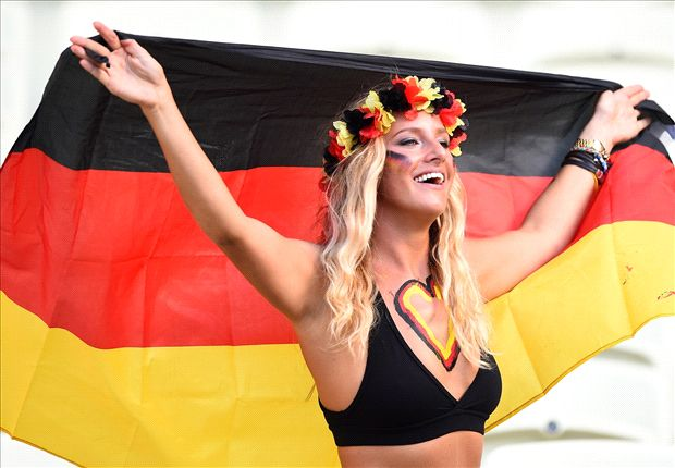 'Black and White' - The colourful German fans' chorus
