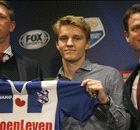 Ödegaard met stip op één in Instagram-lijst Eredivisie