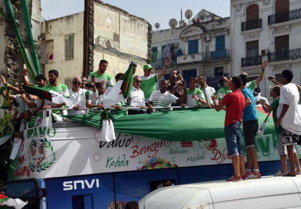 Así llegó Argelia a su país tras la eliminación