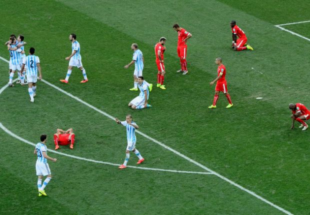 Argentina venció a Suiza con un gol de Ángel Di María a los 117 minutos de juego.