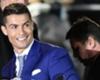 Ronaldo poses with his Bugatti