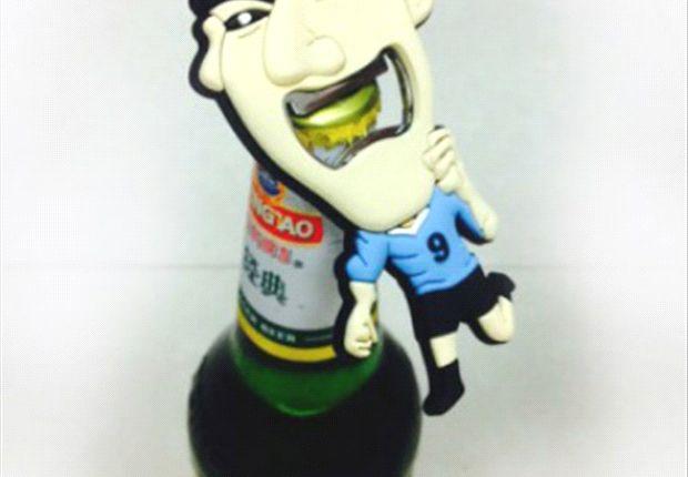 Uno de los productos con el rostro de Suárez
