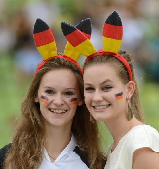 les supportrices de la coupe du monde 2014 - joli doubl u00e9 allemand