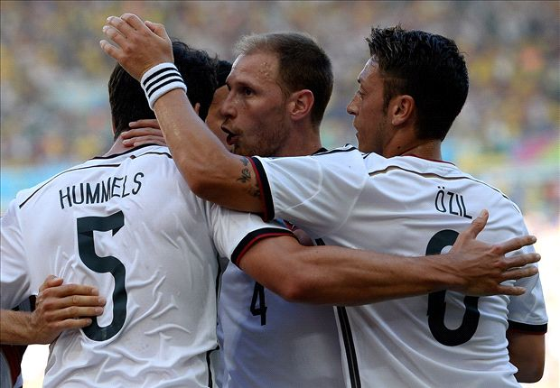 Word on the Tweet: Ozil, Podolski & Gisele celebrate as Germany & Brazil march into semi-finals