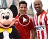 ► Verón y Driussi ¡junto a Mickey!