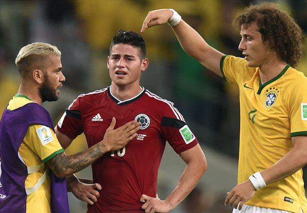 Los jugadores brasileños pidieron que la gente reconozca a James tras quedar eliminado.