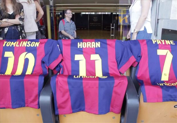 One Direction visitó el Camp Nou