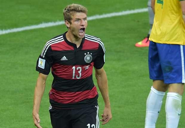 Muller hails 'crazy' Brazil thrashing