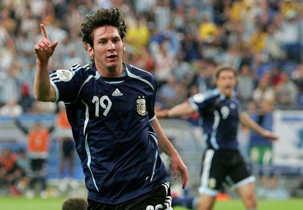 Leo metió su primer gol en un Mundial con la camiseta azul