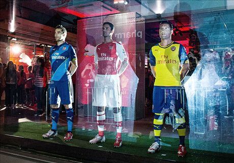 Inside Arsenal's spectacular kit launch