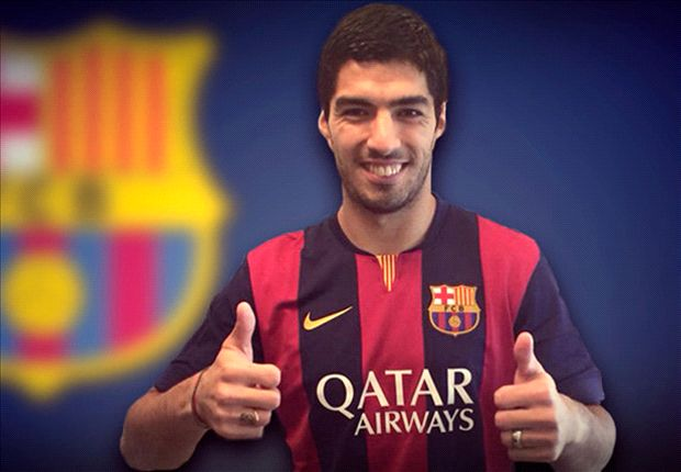 Luis Suarez handed No.9 shirt at Barcelona