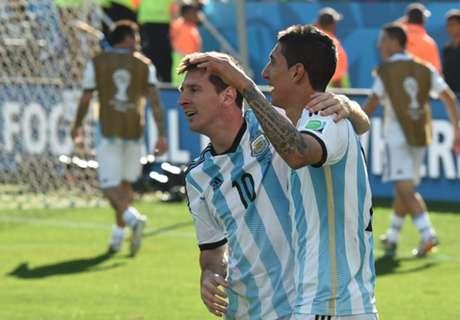 Messi y Di María, destacados