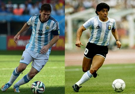 Messi's chance to match Maradona