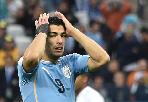 Luis Suárez, con la celeste de Uruguay