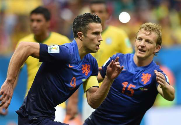 Robin Van Persie Brazil Netherlands 2014 World Cup third-place playoff 07122014