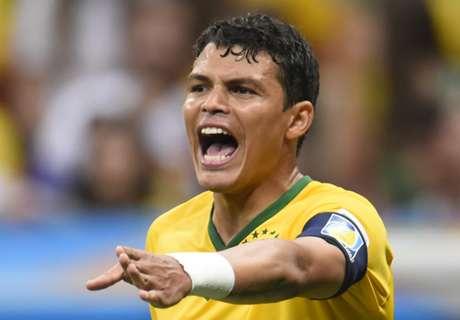 Thiago Silva & Lucas in Brazil squad