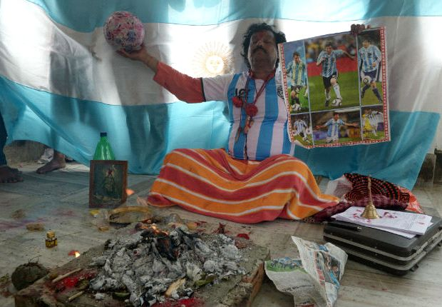 En la India se han hecho rituales para que Argentina gane su tercer Mundial.