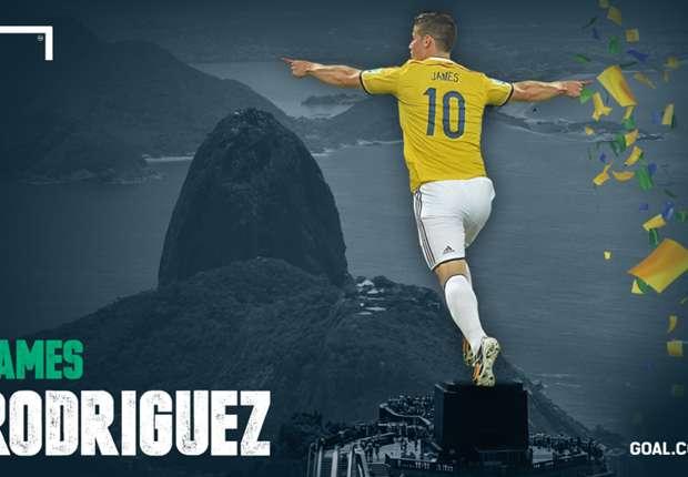 Rodriguez è il miglior cannoniere di Brasile 2014