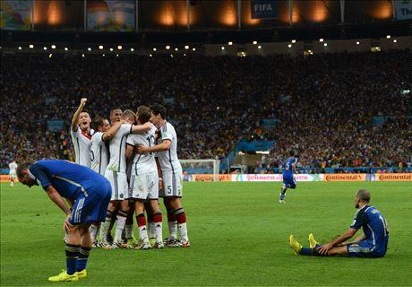 Argentina sigue debajo de Alemania