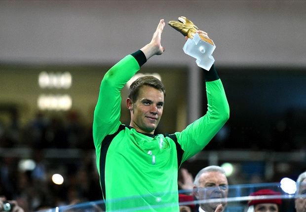 Neuer scoops Golden Glove award