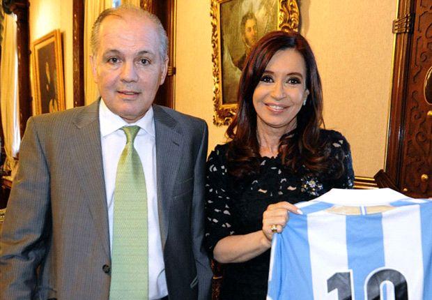 Sabella y Cristina Fernández de Kirchner