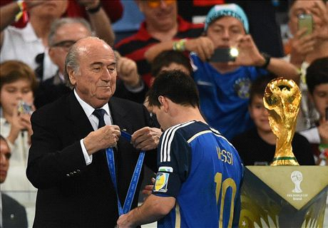 Blatter 'surprised' by Messi Golden Ball