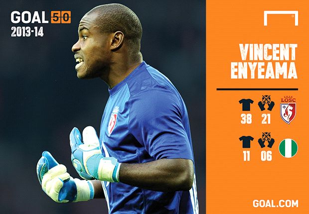 Vincent Enyeama the only Nigerian in Goal 50