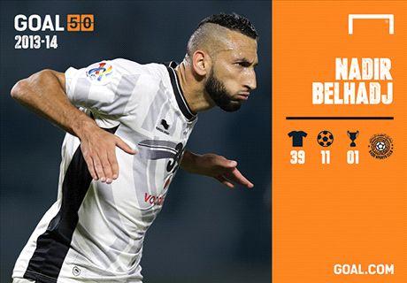 Belhadj delighted to make Goal 50