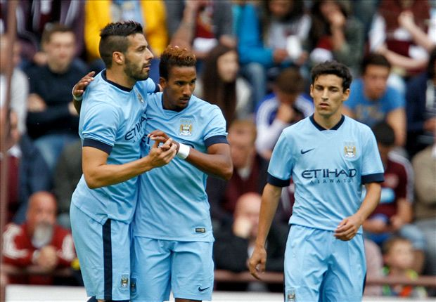 Hearts 1-2 Manchester City: Sinclair and Kolarov earn first pre-season win for Pellegrini