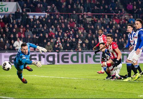 PSV na bizar slot langs Heerenveen