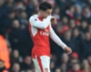 Granit Xhaka leaves the pitch after being sent off against Burnley