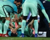 Busquets stretchered off for Barca