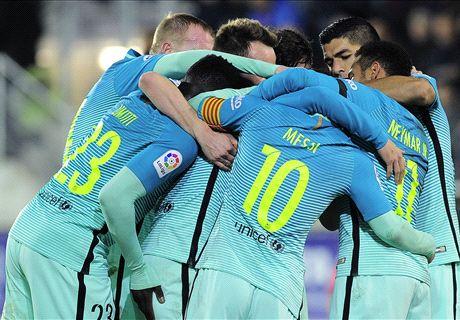 El Barça se da un festín (0-4)