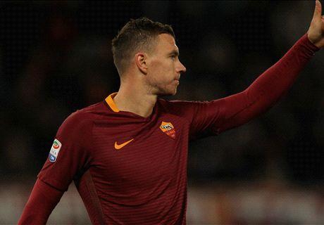 Dzeko risponde alla Juve: Roma in corsa